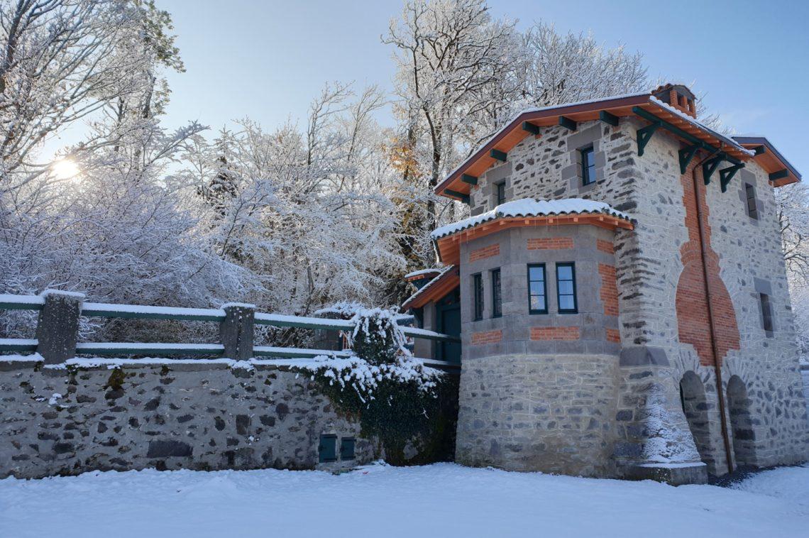Pavillon du garde en hiver